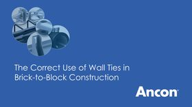 The correct use of wall ties in brick-to-block construction